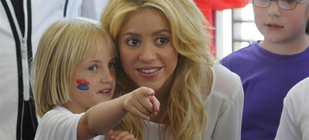 Through Online Baby Shower Shakira And Unicef Raise Awareness On Child Survival Un News