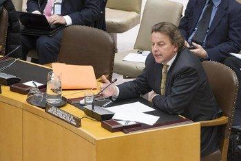 Special Representative Bert Koenders briefs the Security Council on Côte d'Ivoire.