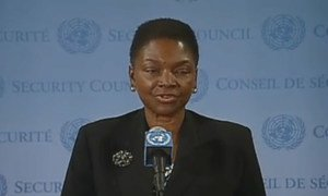 Emergency Relief Coordinator Valerie Amos briefs press on Syria.
