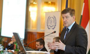 ILO Director-General Guy Ryder speaking at the Youth Eemployment Tripartite Seminar on 11 January 2013 in Budapest, Hungary.