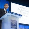 Secretary-General Ban Ki-moon addresses the World Economic Forum in Davos, Switzerland.