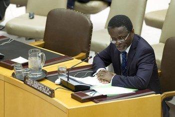 Le Représentant spécial du Secrétaire général pour le Burundi, Parfait Onanga-Anyanga.