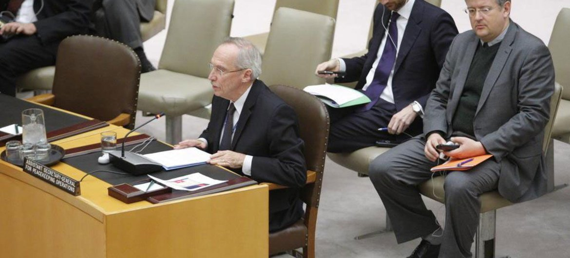 Assistant Secretary-General for Peacekeeping Edmond Mulet briefs the Security Council.