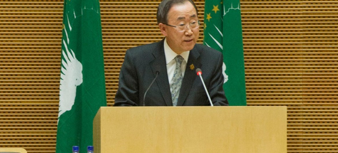 Secretary-General Ban Ki-moon addresses opening ceremony of the 18th Ordinary Session of the Assembly of the African Union.