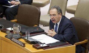 Le Représentant du Secrétaire général pour la Libye, Tarek Mitri, au Conseil de sécurité.