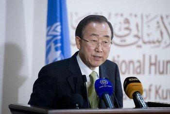 Le Secrétaire général des Nations Unies Ban Ki-moon. Photo ONU/Eskinder Debebe