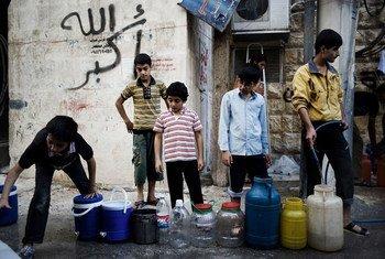 Niños en Aleppo