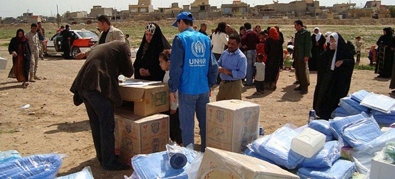 Sirios refugiados en Iraq<br>(Foto de archivo: ACNUR)