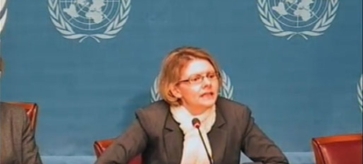 Cécile Pouilly, spokesperson for the Office of the High Commissioner for Human Rights.