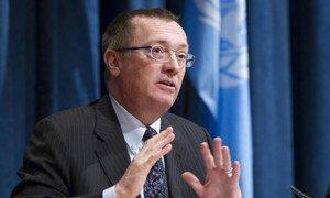 Under-Secretary-General for Political Affairs Jeffrey Feltman briefs the press.