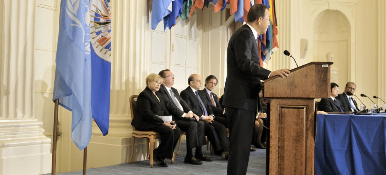 Secretary-General Ban Ki-moon addresses the Permanent Council of the Organization of American States (OAS) in Washington, D.C.