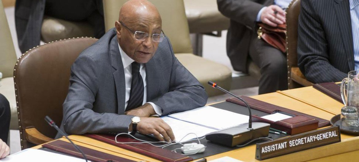 Assistant Secretary-General for Political Affairs Tayé-Brook Zerihoun briefs the Security Council on the situation in Somalia.