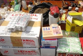 Counterfeit drugs at a market in Ouagadougou, Burkina Faso.