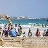 A scene from Lido beach in Mogadishu, Somalia.