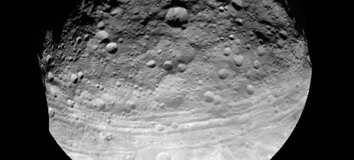 This full view of the giant asteroid Vesta was taken by NASA's Dawn spacecraft.