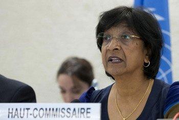 Le Haut Commissaire des Nations Unies pour les droits de l'homme, Navi Pillay.