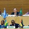 Secretary-General Ban Ki-moon addresses high-level meeting for the Peace, Security and Cooperation Framework for the Democratic Republic of the Congo and the Region.