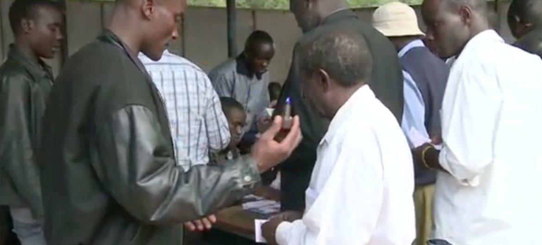 Préparatifs aux élections au Kenya.