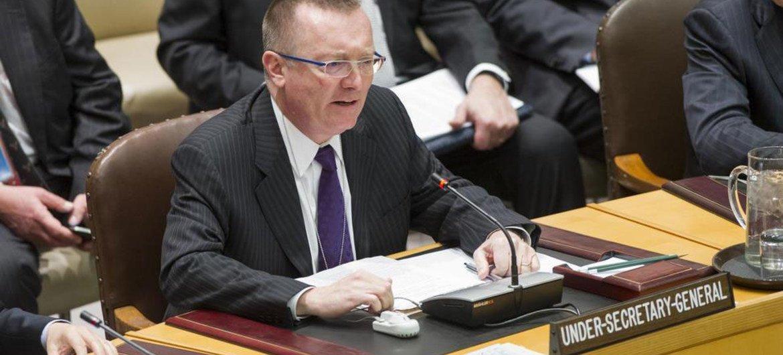 Le Secrétaire général adjoint aux affaires politiques, Jeffrey Feltman. Photo ONU/Eskinder Debebe
