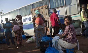 With the resumption of country bus services, some people have been returning home from cities like Bamako.