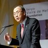 In Geneva, Secretary-General Ban delivers the annual lecture dedicated to Sergio Vieira de Mello, a UN official who died in a 2003 terrorist bombing in Baghdad.