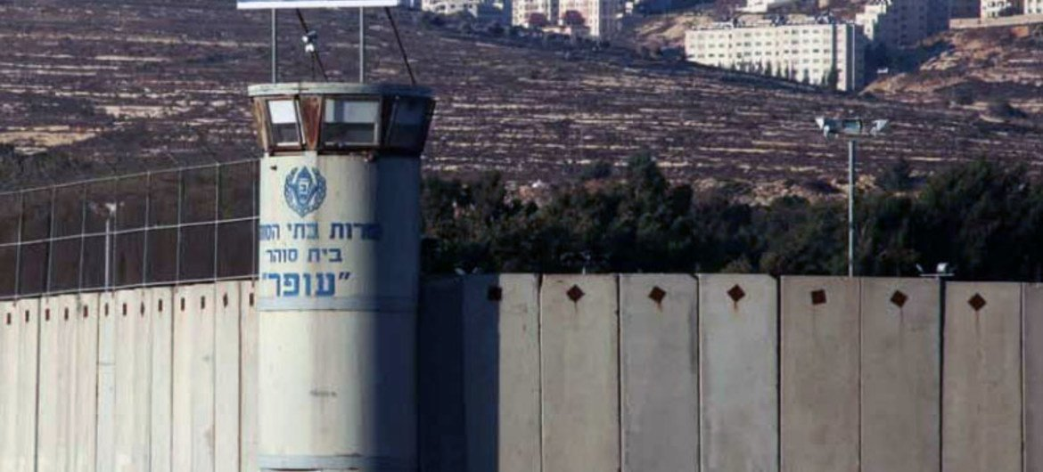 Ofer military court and prison in the West Bank.