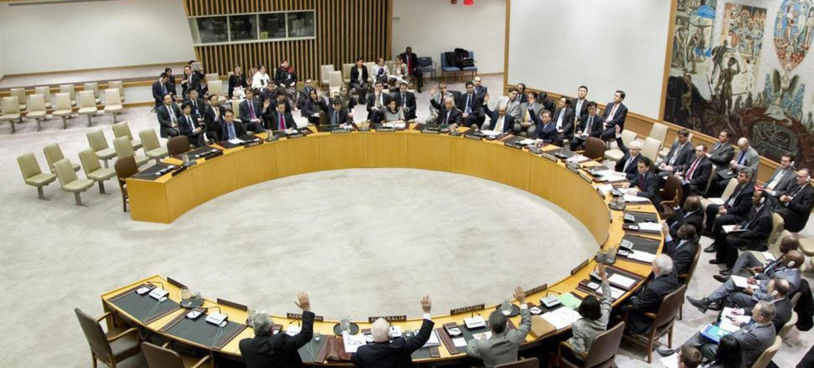 Security Council votes unanimously to impose new sanctions on the Democratic People's Republic of Korea (DPRK).