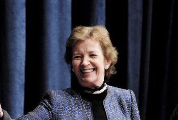 Mary Robinson. Photo ONU/Paulo Filgueiras