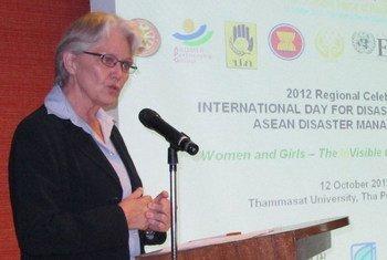 La directora de la Oficina de la ONU para la Reducción del Riesgo de Desastres (UNISDR), Margareta Wahlström. Foto: UNISDR