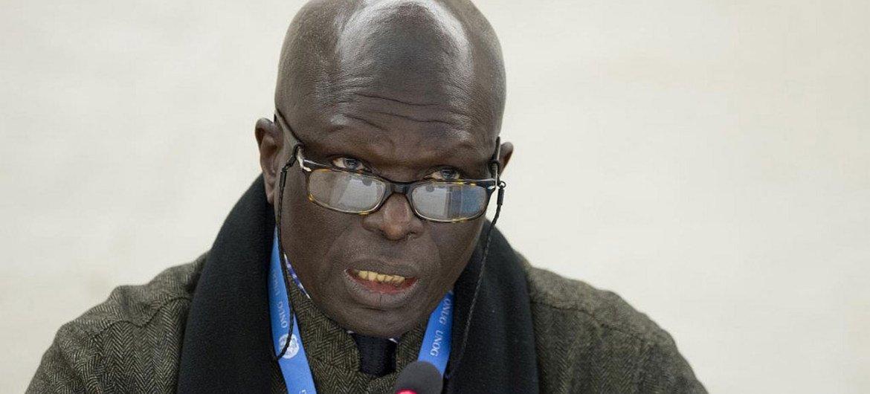 Doudou Diène, le Président de la Commission d'enquête de l'ONU sur le Burundi. (archives)