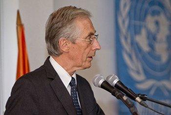 Le Représentant spécial par intérim du Secrétaire général pour Haïti, Nigel Fisher.
