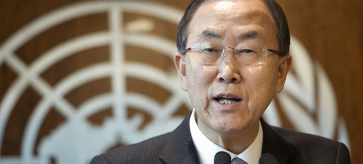Secretary-General Ban Ki-moon announcing that he is establishing a UN investigation mission on the possible use of chemical weapons in Syria.