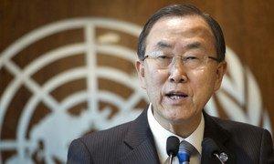 Le Secrétaire général Ban Ki-moon annonce l'établissement d'une mision d'enquête sur les allégations d'emploi d'armes chimiques en Syrie.