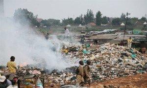 Living amid waste.