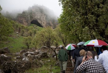 A wide view of Shanidar Cave in the Kurdistan Region of Iraq.