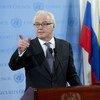 El presidente en turno del Consejo de Seguridad de la ONU, Vitaly Churkin, embajador de Rusia. Foto de archivo: ONU/Rick Bajornas