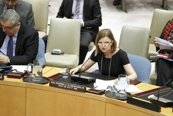 La Représentante spéciale du Secrétaire général des Nations Unies pour le Liberia, Karin Landgren, au Conseil de sécurité.