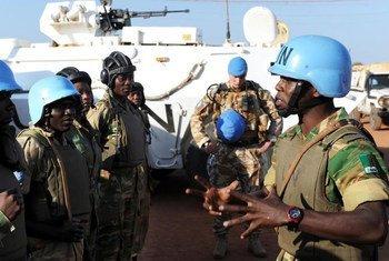 UN peacekeepers on patrol in Sudan's Abyei region.