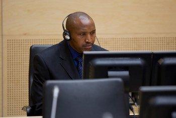Bosco Ntaganda, lors de sa comparution préliminaire devant la Cour pénale internationale, en mars 2013.