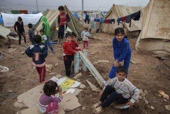 Niños sirios refugiados