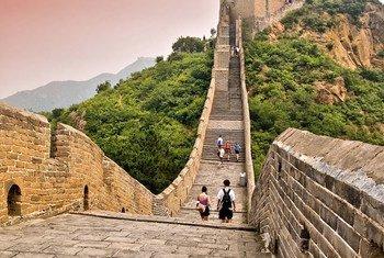 Turistas en la Muralla china Foto:OMT