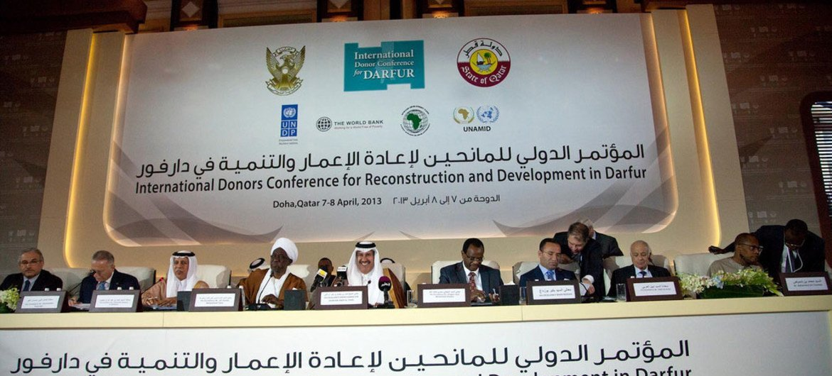 Opening ceremony of the International Donors Conference for Reconstruction and Development in Darfur, in Doha, Qatar.