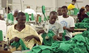 Workers at Sonapi Industrial Park, Port-au-Prince, Haiti.