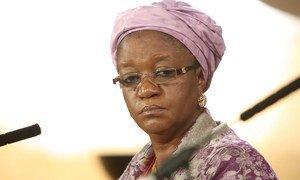 La Représentante spéciale de l'ONU chargée de la question des violences sexuelles commises en période de conflit, Zainab Hawa Bangura.
