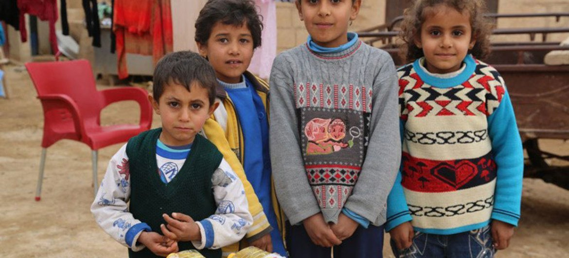Delivering food to people like these kids in Syria is getting harder and more dangerous every day.