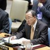 Secretary-General Ban Ki-moon addresses Security Council meeting on conflict prevention in Africa.