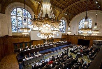 La Cour internationale de justice (CIJ) en session.