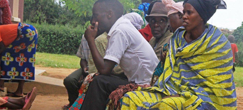 Patients at Nakivale refugee health centre in Uganda.