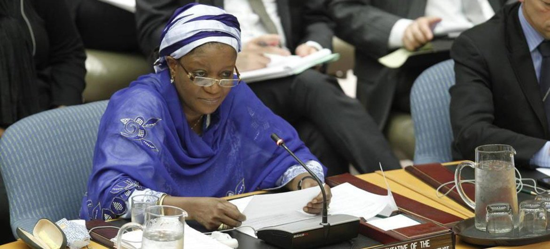 La Représentante spéciale chargée de la question des violences sexuelles commises en période de conflit, Zainab Hawa Bangura.