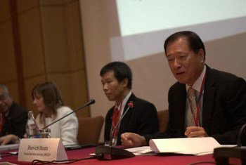 WHO Assistant Director-General Marie-Paule Kieny, (left) addressing the Global Summit on CRVS in Bangkok, Thailand.